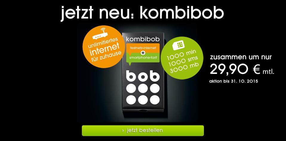 jetzt neu: surf und sprich mit kombibob! unlimitiertes festnetz-internet für zuhause und smartphone-tarif in einem.