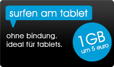 surfen am tablet - 1 gb um 5 euro
