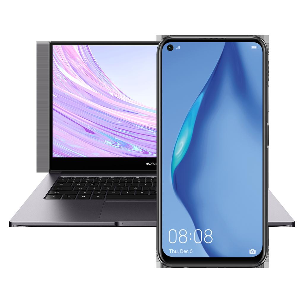 Huawei P40 lite + Matebook D14